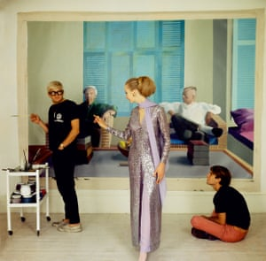 David Hockney, Peter Schlesinger and Maudie James appear in the major exhibition celebrating 100 years of British Vogue.