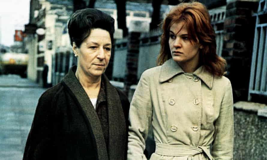 Sandy Ratcliff, right, with Grace Cave in Family Life, 1971, directed by Ken Loach.