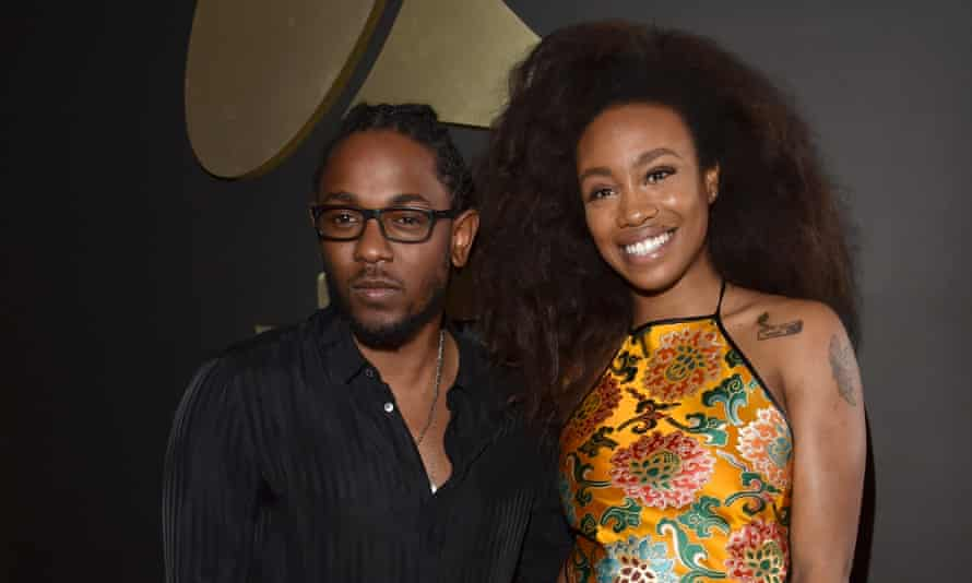 Kendrick Lamar and SZA at the 2016 Grammy awards.