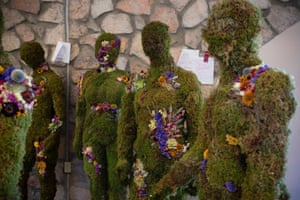 Mannequins representing the 23 victims of the shooting have been placed in a community healing garden