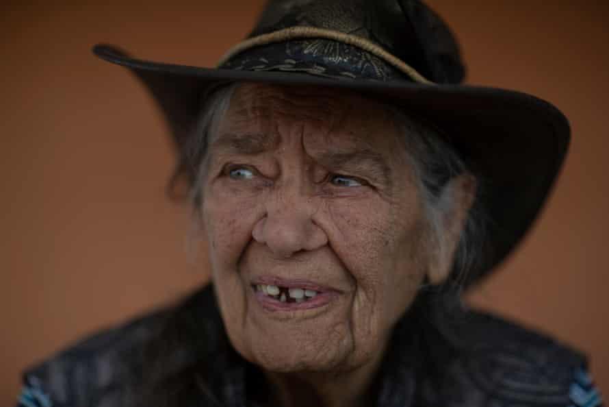 Nyampa elder Beryl Carmichael at her home in Menindee, NSW.