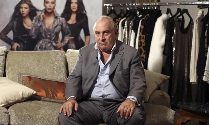 Philip Green inside the Topshop store on Oxford Street in London in 2012.