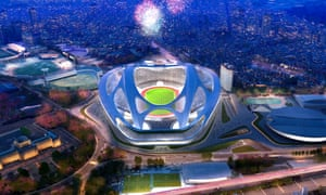 How Tokyo hopes its new National Stadium will look in time for 2020 Olympics. The Games are currently four times over budget having already cost $25bn.