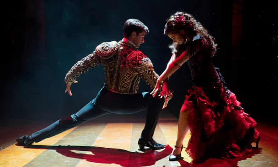 Fever … Sam Lips as Scott Hastings and Gemma Sutton as Fran in Strictly Ballroom.