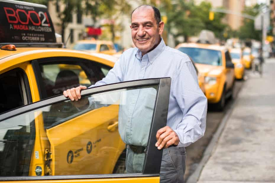 Yellow Cab driver Abdelhalim Elgndy, 62, originally from Egypt, was formerly a sous chef in a French restaurant and supports two children by driving a cab. He has driven a taxi for 25 years.