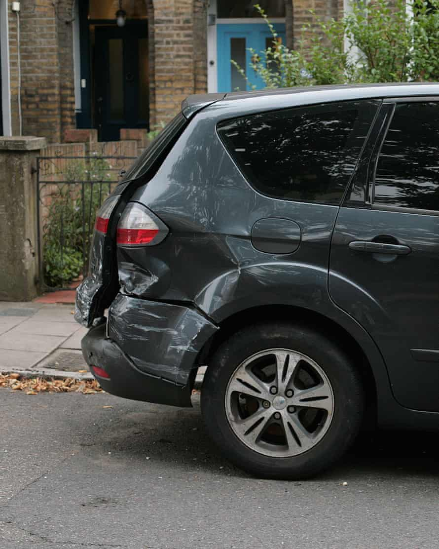 Damage to Jacqueline Green's car in south London.
