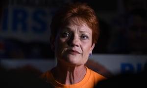 One Nation's Pauline Hanson