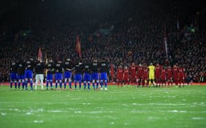 Anfield and the players pay their respects.