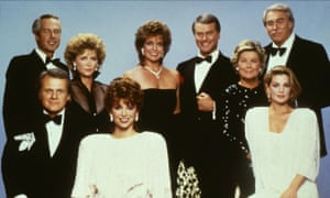 Ken Kercheval (bottom left) with the cast of Dallas.
