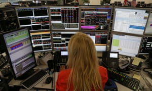 Share traders in London