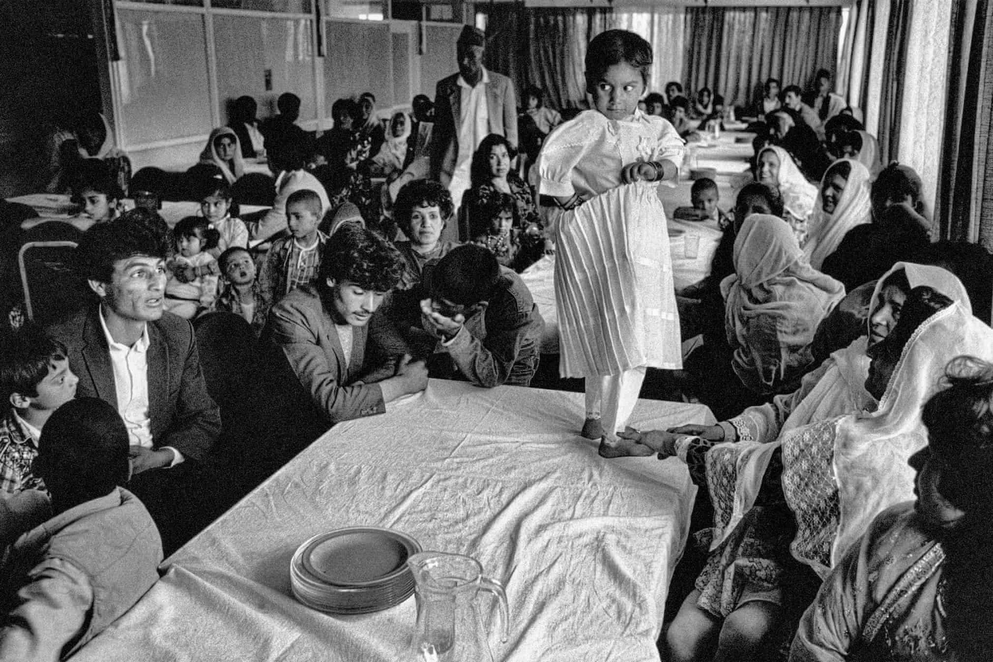 A wedding party in a restaurant, Kabul, Afghanistan, 1991