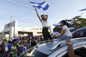 Managua, Nicaragua People demonstrate