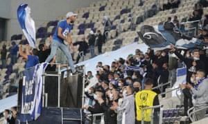 Israel fans at the Bloomfield Stadium, Tel Aviv.