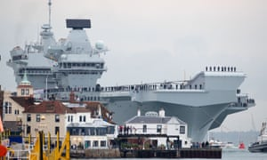 The HMS Queen Elizabeth, which will be sent to the Pacific region in 2021, says Gavin Williamson