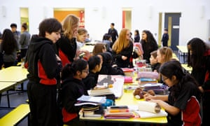 Students at a school in Bradford