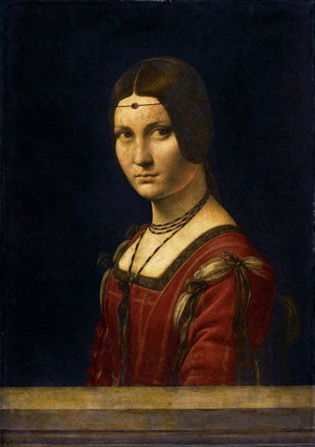 Portrait of a Woman, La Belle Ferroniere, 1493-94 by Leonardo da Vinci
