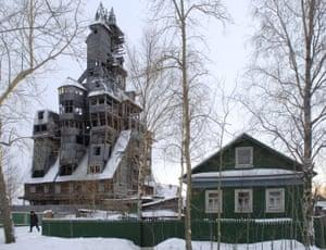 144-ft wooden 'skyscraper' in Arkhangelsk Region.