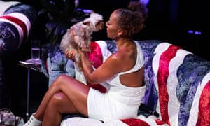 Stop stealing my show! ... Mel B with her dog, Cookie.