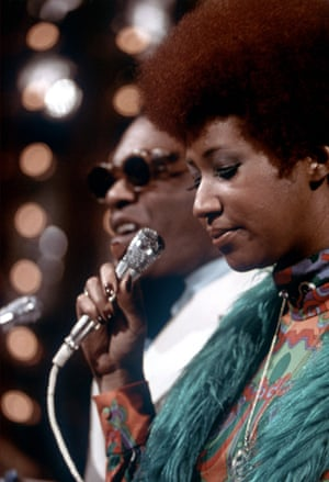 Ray Charles and Aretha Franklin performing at the American Music Awards, 1978