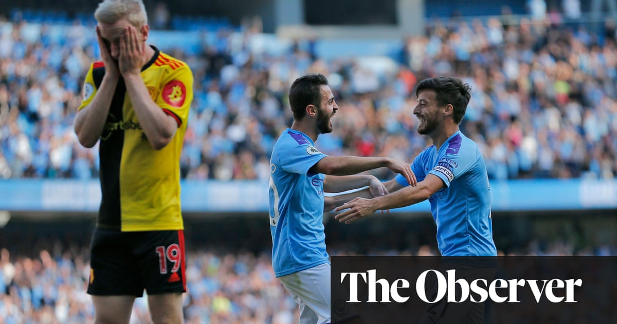 Manchester City hit eight past Watford as Bernardo Silva scores hat-trick