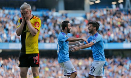 Manchester City hit eight past Watford as Bernardo Silva scores treble