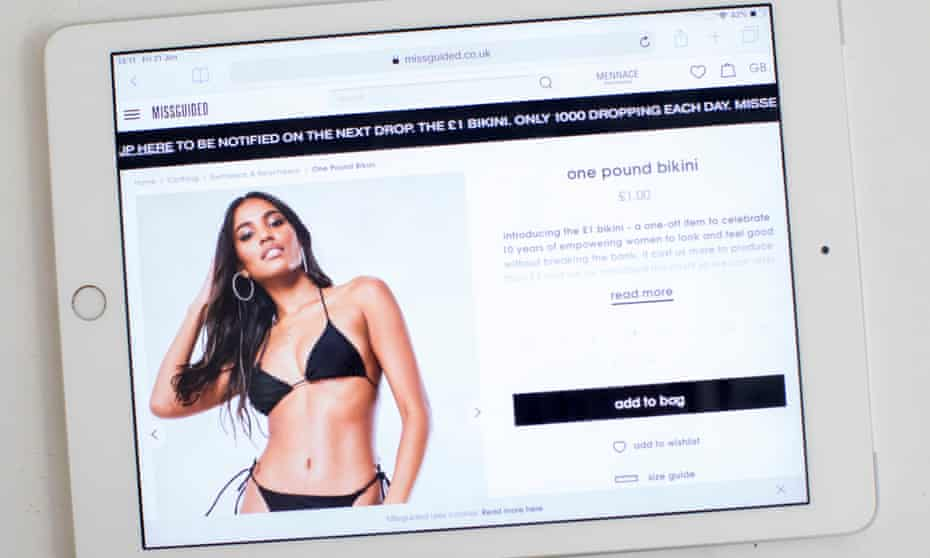 Missguided £1 bikini was advertised during Love Island and drew the ire of fast fashion critics.