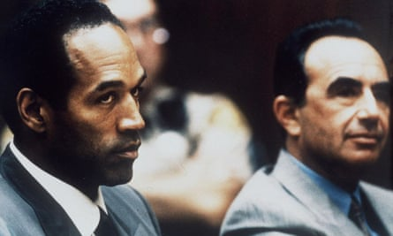 OJ Simpson at a court hearing in Los Angeles in 1994. He was acquitted of murder but later went to prison for a 2008 armed robbery and kidnapping.