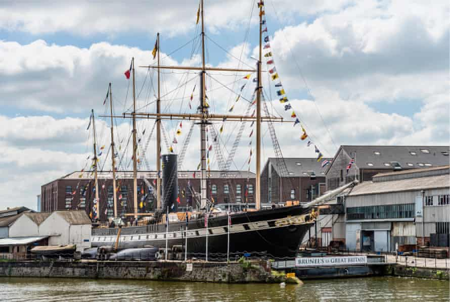 Safe harbour: Brunel's great ship is now a museum docked in Bristol.