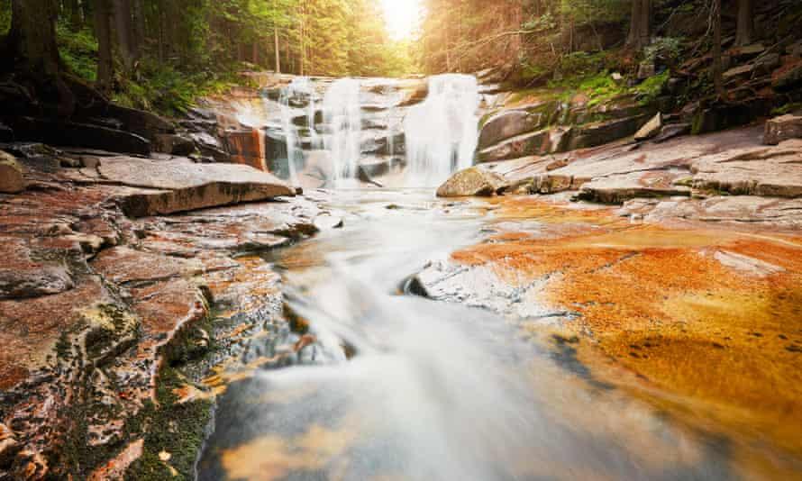Mumlava waterfalls in Krkonose National Park, Czech Republic