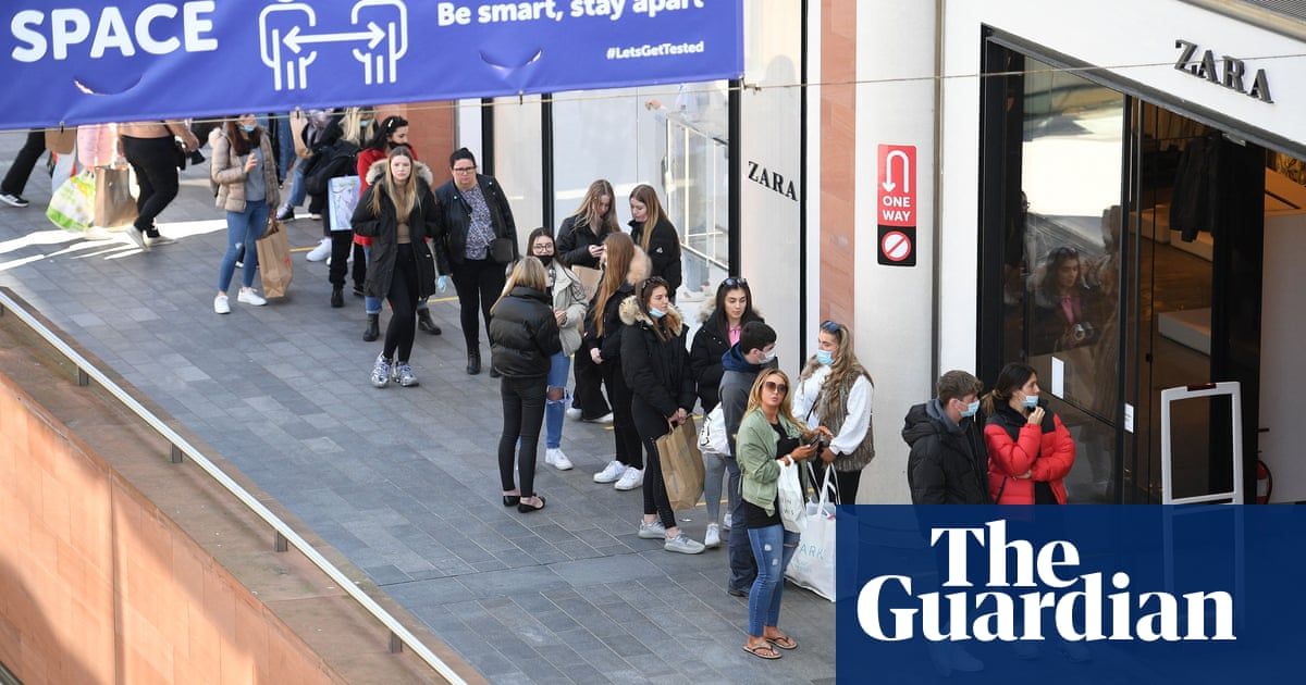 Footfall in England up by almost 200% as Covid controls ease