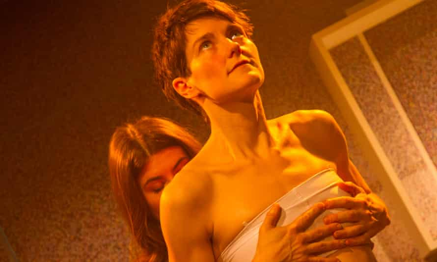 Fully fledged central performance … Anna Martine as Fiona/Adrian in Rotterdam at Theatre 503.