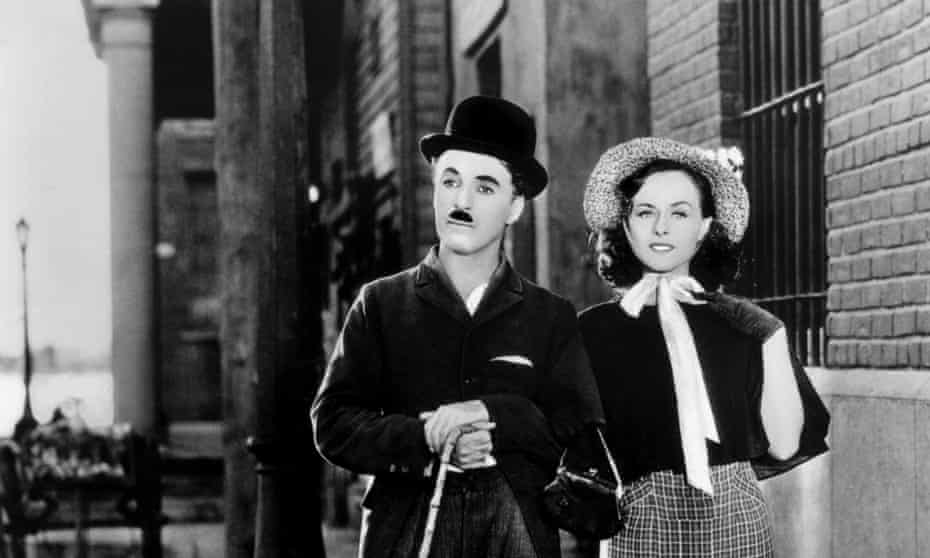 Charlie Chaplin and Paulette Goddard in the 1936 film Modern Times.