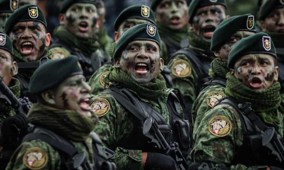 Between 2006 and 2017, the Mexican military received $2.7bn in security assistance from the US.