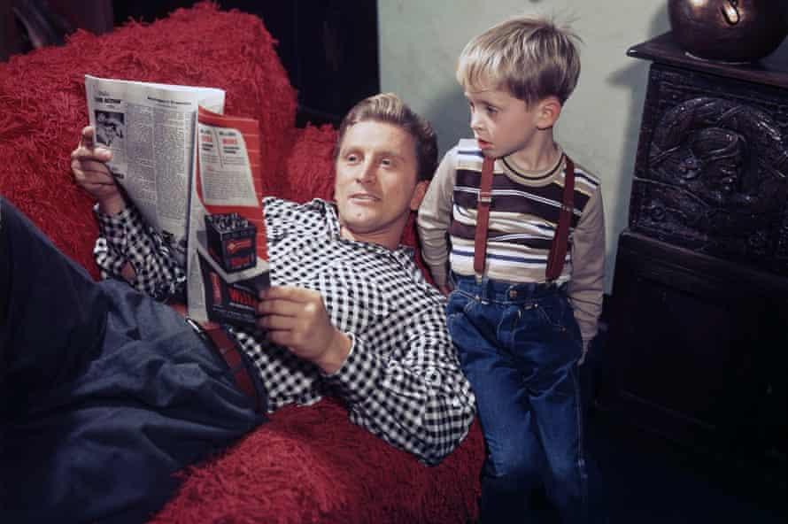 Douglas with son Michael Douglas as a young boy