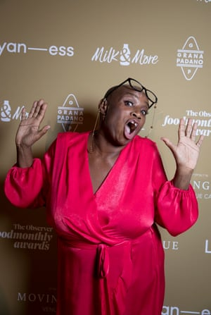 Andi Oliver attends The Observer Food Awards 2019 held at the Freemasons Hall in central London. 17 October 2019