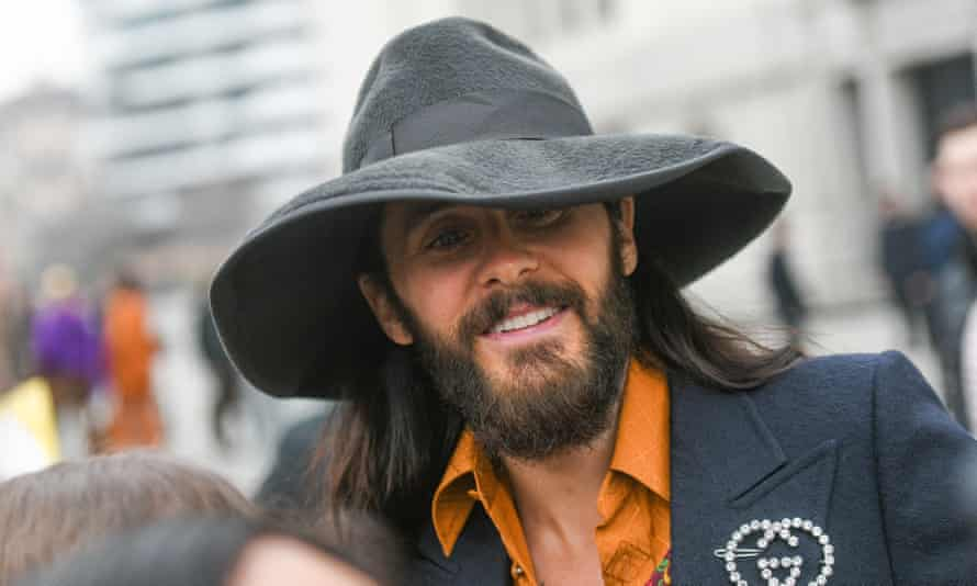 Jared Leto, pictured in Milan in January before his desert retreat and the explosion of the coronavirus outbreak.