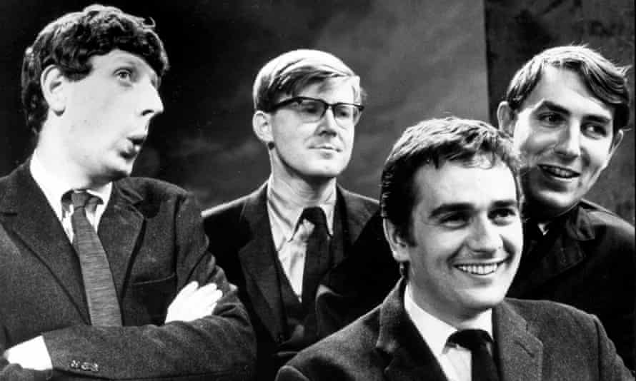 A dazzling way with words … Jonathan Miller, Alan Bennett, Dudley Moore and Peter Cook in Beyond the Fringe in 1964.