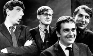 Miller with Alan Bennett, Dudley Moore and Peter Cook in Beyond the Fringe, 1964.