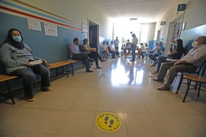 People wait to receive the Covid-19 vaccine at a medial center in Beirut, Lebanon, on 24 May 2021. Lebanon launched on Monday the vaccination campaign for the public sector and foreign expatriates in the country.