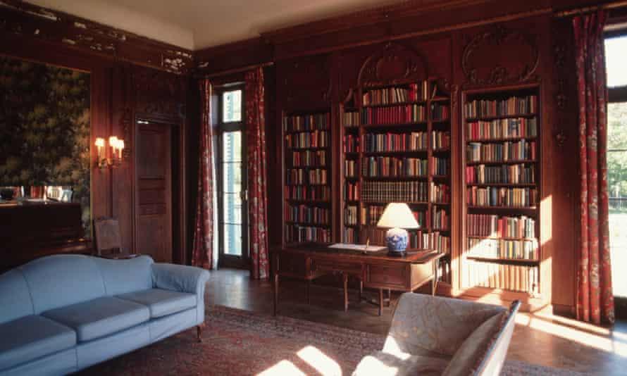 Comfort library … Edith Wharton's house in Massachusetts.