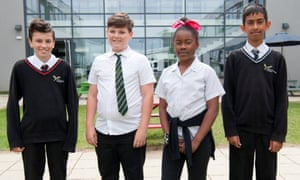 Year 8s from North Cambridge academy: left to right, Tyler Constable, Tyler Jolly, Grace Lavill and Riaz Hagger