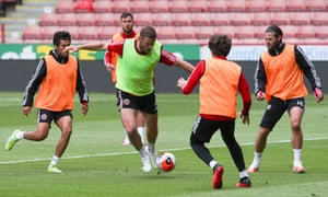Jack O'Connell during training at Bramall Lane.