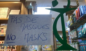 A sign in a Parisian pharmacy.