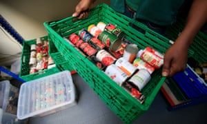 Food being sorted at a foodbank