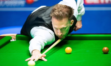 Judd Trump in action at the Crucible