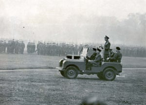 King George VI reviews the Territorial Army In Hyde Park in 1948