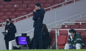 Mikel Arteta reflects on a poor performance by his team