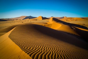 Sand dunes in Namibia, in south-west Africa's Namib desert
