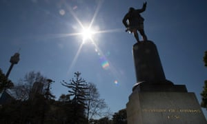 The Captain Cook statue in Hyde Park, Sydney