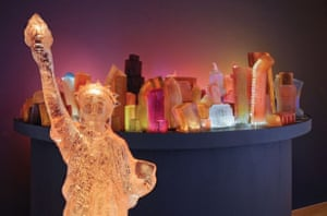 Liz Hickok: Fugitive Topography: Jelly NYC, 2010 (View from the Staten Island Ferry)